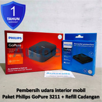 Paket Philips Go Pure GP3211 + Replacement SFP120 Air Purifier Mobil