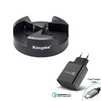 KingMa BM045 Triple 3-Channel Charger for Sony NP-F970 NP-F750 NP-F550
