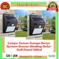 Lampu Taman Tenaga Surya System Sensor Dinding/Solar Cell/Panel 20led