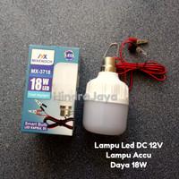 Lampu Led DC 12V Daya 18W untuk Aki / Sollar Cell Panjang Kabel 1.5M