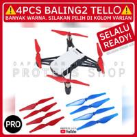 ✅ BALING2 PROPELLER CADANGAN DRONE DJI TELLO REPLACEMENT 4PCS - Kuning