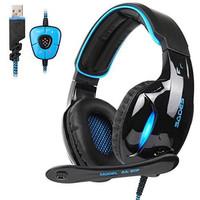 Sades Gaming Headphone Headset LED Virtual 7.1 with Mic - SA-902