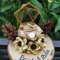 Ring Box Terrarium Kotak Rustic Beares