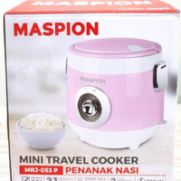 Maspion Rice Cooker Mini Travel Cooker Kecil 0.5 Liter MRJ053