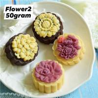(50gr) Cetakan Mooncake FLOWER2 50gram Cetakan kue bulan 50gr
