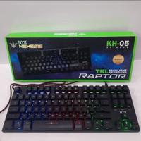 keyboard gaming NYK nemesis ORIGINAL KH05 KH-05 RGB raptor KH 05 black