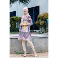 ZEMIRA Dress Muslim Fashion Wanita Floral Tunik