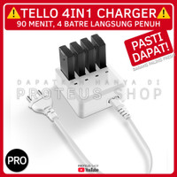 ✅ CHARGING HUB 4IN1 CHARGER BATTERY DRONE DJI TELLO SMART BATRE