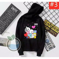 Sweater XL Hoodie BTS BT21 Baju Atasan Korean Bangtan Kim Jimin K-Pop