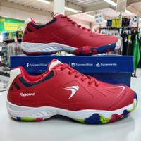 Sepatu badminton bulutangkis flypower playpower losari 03 merah ori