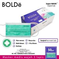 BOLDe Super Mask Surgical Mask 3 Ply 50 Pcs
