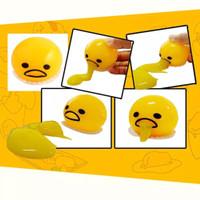 VK Mainan squishy slime telur muntah gudetama smile