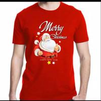 Kaos Natal Merry Christmas Cowok Cewek - Kaos Edisi Natal