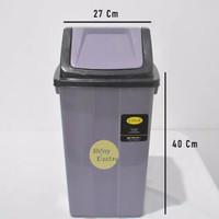 Tempat Sampah 20 Liter Tong Kebersihan Besar Tutup Goyang Murah Kokoh