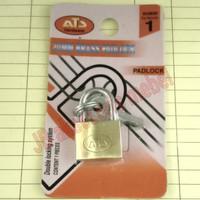 GEMBOK KUNINGAN ASLI 20 mm merk ATS / GEMBOK KECIL 2 cm KUNINGAN ATS