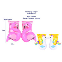 PELAMPUNG TANGAN ARM BANDS FLAMINGO UNICORN Kantong