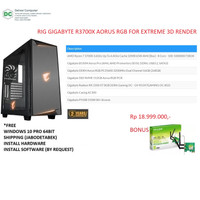 RIG Gigabyte R3700X Aorus Extreme For 3D Render