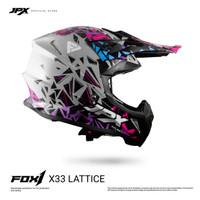 JPX FOX1 FULL FACE X33 LATTICE - SILVER GLOSS