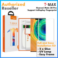 Original TMAX T-MAX UV Full Cover Tempered Glass Huawei Mate 30 Pro