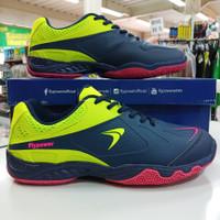 Sepatu badminton bulutangkis flypower playpower losari 03 navy hijau