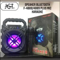 Speaker Bluetooth Wireless Mic Karaoke F-4009/4008