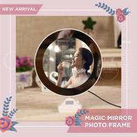 Magic Mirror Photo Frame Cermin Makeup LED Foto Portable