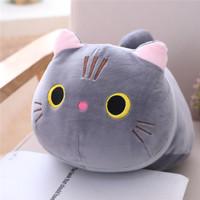 Boneka Kucing Imut Bantal Cute Cat Dolls - Abu-abu 25cm