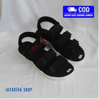 Sandal Kenzi Tuff Terbaru/Sandal Tali Tiga/Sandal Fashion Pria - Hitam
