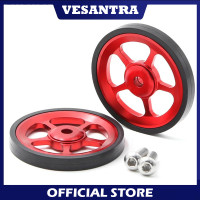 2 Pcs Easy Wheel For Brompton Pikes Trifold 3 Sixty Merah