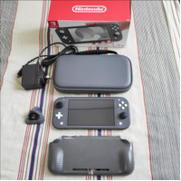 NINTENDO SWITCH LITE GREY BEKAS MULUS LIKE NEW