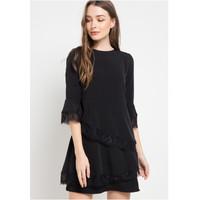 Dress Wanita Brand EDITION WOMEN ED71 BLACK Sleeveless Dress