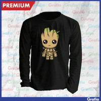 Kaos Tshirt Lengan Panjang Groot Guardians of the galaxy