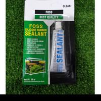 Lem Sealant Silicone Aquarium Merk Foss 30 gram