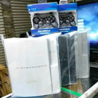 PS 3 FAT HARDIS 500 GB FULL GAMES PS3 SONY 2 STIK WIRLES VERSI TERBARU - 500 gb