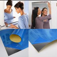stiker kaca cermin besar / wallpaper cermin dekorasi dinding