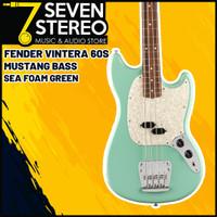 Fender Vintera 60s Mustang Bass Guitar Pau Ferro FB Sea Foam Green