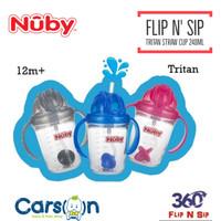 Nuby Active Sipeez 240ml Flip N Sip Tritan Straw Cup
