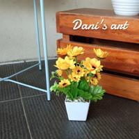 buket bunga matahari palsu dekorasi/ bunga plastik/ sun flower palsu