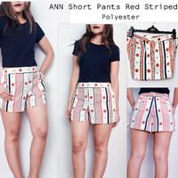 ANN Red Striped Hotpant