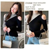 BM- 23106# Knit Cold Shoulder Tops blouse impors