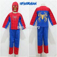 Baju Kaos Setelan Kostum Anak Karakter Superhero SPIDERMAN 2-5 Tahun