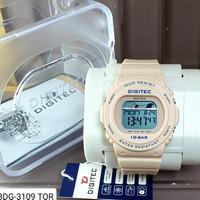 Jam tangan wanita Digital sporty Digitec 3109 Original water resist - Cream