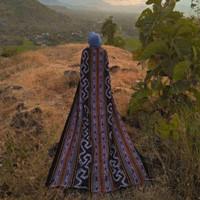 Kain Tenun Etnik Blanket Tebal Tenun Ikat Jepara Toraja Lombok