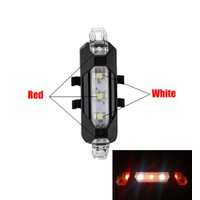 Lampu Belakang Sepeda USB Rechargeable Rear Tail Bike Portable Light