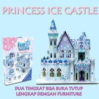 Mainan Edukasi Puzzle 3D Princess Ice Castle Frozen