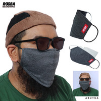 Masker Beardman Rogba By Rosal Masker Pria Berjenggot Berbahan Kaos
