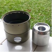 kompor spirtus alkohol 32 lubang dual function outdoor ultralight
