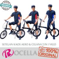 New Setelan Aero & Celana 2 In 1 Vigo / Baju Olahraga / Kaos Pria - FOTO, S-M