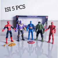 Mainan Figure Set Avengers 4 [5 pcs] / Boneka SuperHero Anak Laki