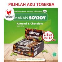 SOYJOY ALMOND & CHOCOLATE 30 gr - ( HARGA 1 BOX ISI 12 pcs )